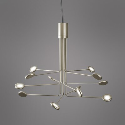Arbor 12-Light LED Sputnik Chandelier Finish: Gold/Silver