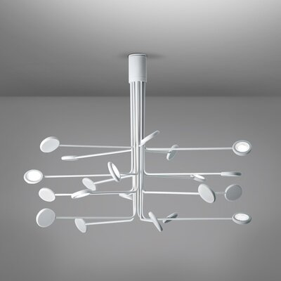 Arbor 20-Light LED Semi Flush Mount Fixture Finish: White