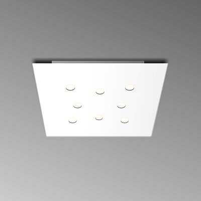 8-Light Flush Mount Fixture Finish: White
