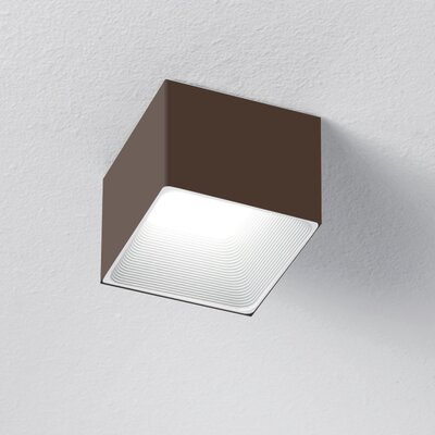 1-Light LED Flush Mount Finish: Chocolate/White