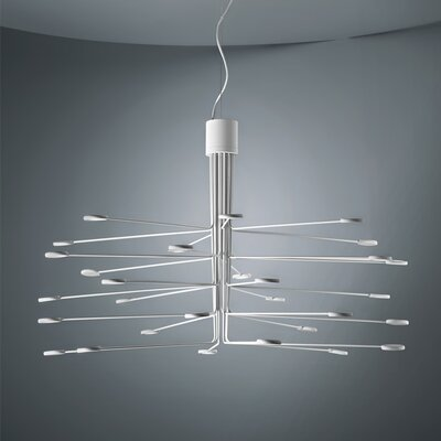 Arbor 30-Light LED Sputnik Chandelier Finish: White