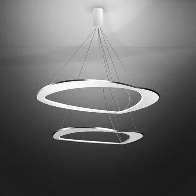 Diadema 1-Light LED Geometric Pendant Finish: Aluminum/White
