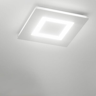 Flush Mount Fixture Finish: White