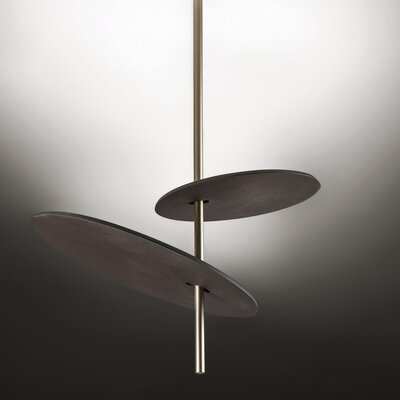 Lua 2-Light LED Geometric Pendant Finish: Russet/Gold Silver