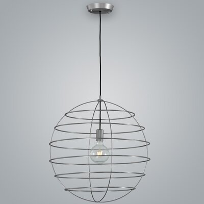 Sphere Suspension 1-Light Globe Pendant Finish: Pewter