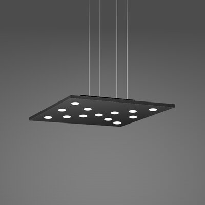 Pop Suspension 11-Light Pendant Fixture Finish: Black