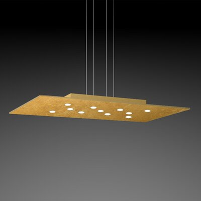 Pop Suspension 11-Light Pendant Fixture Finish: Gold Leaf/Brushed Gold