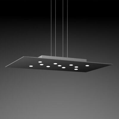 Pop Suspension 11-Light Pendant Finish: Black/Aluminum