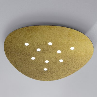 Scudo 9-Light Flush Mount Fixture Finish: Gold Leaf