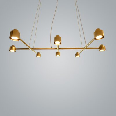 Spider 8-Light Kitchen Island Pendant Finish: Brass