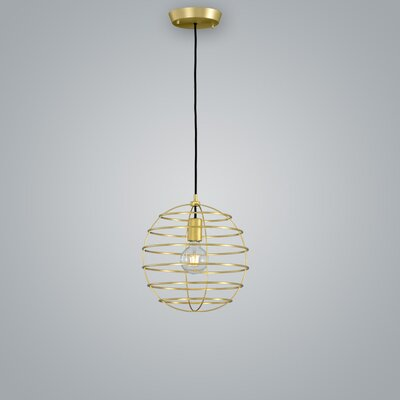 Sphere Suspension Globe Pendant Finish: Brass, Size: 13.75 H x 13.75 W x 13.75 D