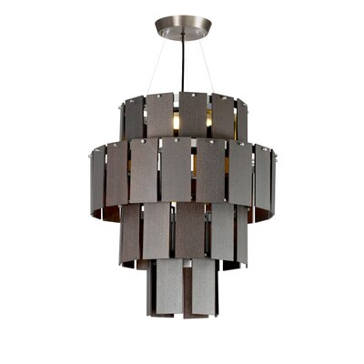 Quarz LED Drum Chandelier Finish: Pewter/ Dark Oak