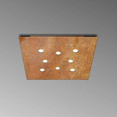 8-Light Flush Mount Fixture Finish: Rust