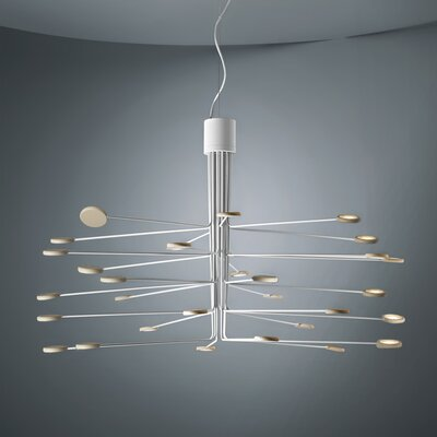 Arbor 30-Light LED Sputnik Chandelier Finish: White/Dove Gray