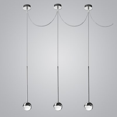 1-Light Mini Pendant Finish: Chrome/Transparent