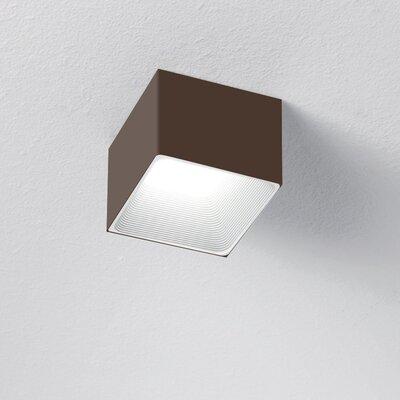 1-Light LED Flush Mount Finish: Chocolate/White