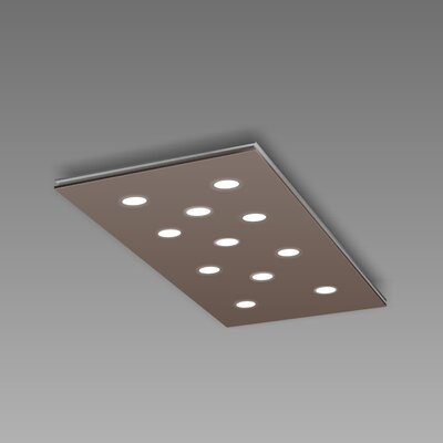 Pop 11-Light Flush Mount Fixture Finish: Mocha/Aluminum