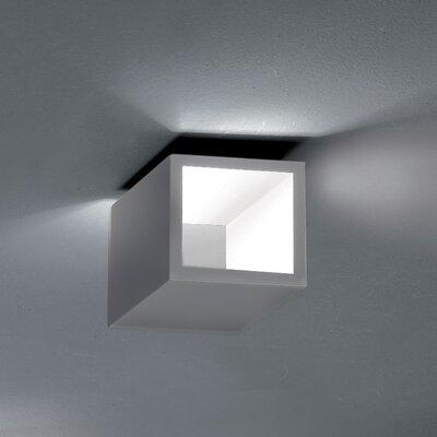 Semi 1-Light LED Flush Mount Fixture Finish: Gray/White