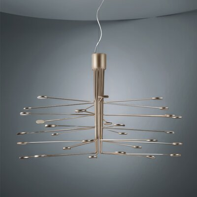 Arbor 30-Light LED Sputnik Chandelier Finish: Gold/Silver