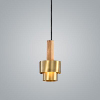 Reflections 1-Light Mini Pendant Finish: Brass, Size: 11.5 H x 6 W x 6 D