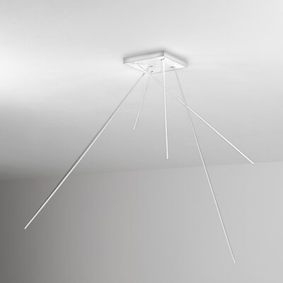 Spillo Flush Mount Fixture Finish: White