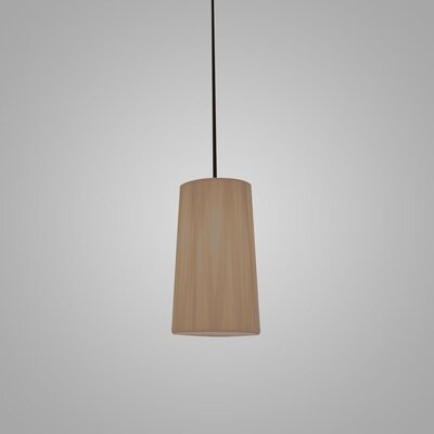 Dress 1-Light Mini Pendant Finish: Taupe