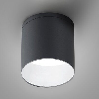 Kone 1-Light LED Directional and Spotlight Fixture Finish: Titanium/White