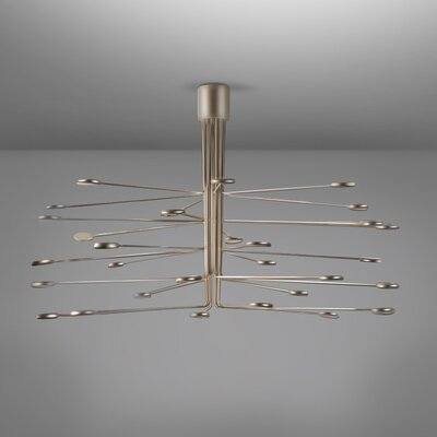 Arbor LED Semi Flush Mount Fixture Finish: Gold/Silver