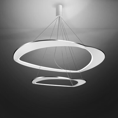 Diadema 1-Light LED Geometric Pendant Finish: Aluminum/White