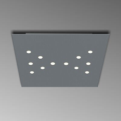 12-Light Flush Mount Fixture Finish: Gray