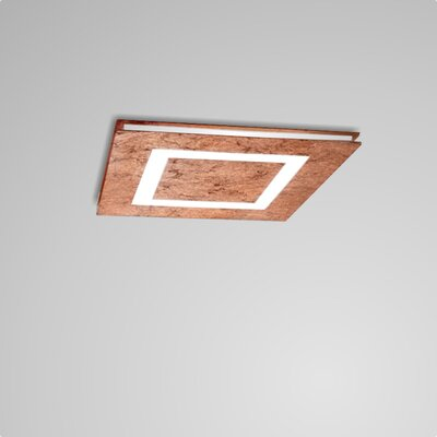 Flush LED Mount Fixture Finish: Copper Leaf