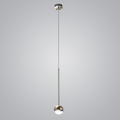 1-Light Mini Pendant Finish: Satin Nickel/Transparent