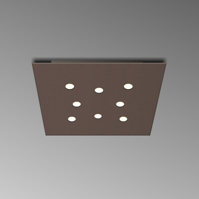 8-Light Flush Mount Fixture Finish: Mocha