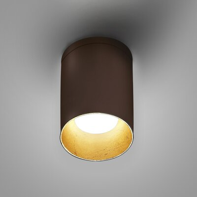 Kone 1-Light LED Directional and Spotlight Fixture Finish: Chocolate/Gold Leaf