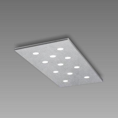 Pop 11-Light Flush Mount Fixture Finish: Silver Leaf/Aluminum