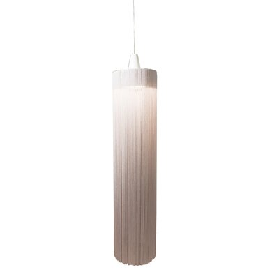 1-Light Foyer Pendant Finish: White/Cream