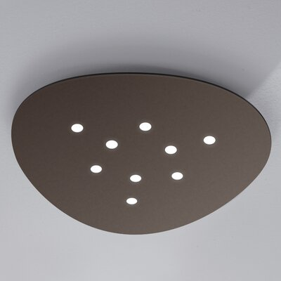 Scudo 9-Light Flush Mount Fixture Finish: Mocha