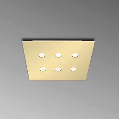 6-Light Flush Mount Fixture Finish: Gold Silver