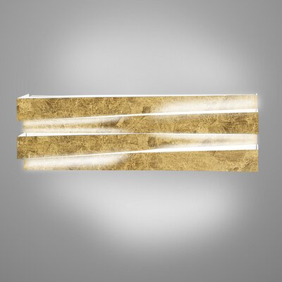 1-Light LED Flush Mount Fixture Finish: Gold Leaf