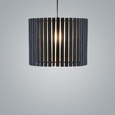 Luz Oculta Wood Suspension 1-Light Drum Pendant Fixture Finish: Dark Oak/Bronze