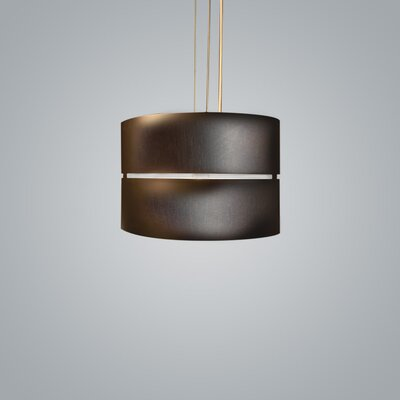 Luz Oculta 1-Light Drum Pendant Finish: Brass