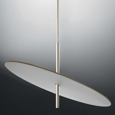 Lua 1-Light LED Geometric Pendant Finish: White/Gold Silver, Size: 33.06 H x 23.62 W x 23.65 D