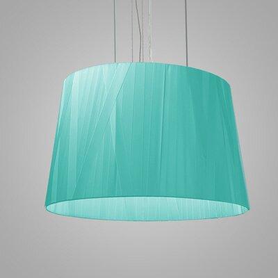 Dress 6-Light Drum Pendant Finish: Turquoise