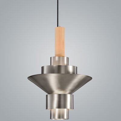 Reflections 2-Light LED Geometric Pendant Finish: Pewter