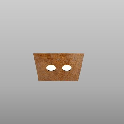 2-Light Flush Mount Fixture Finish: Rust