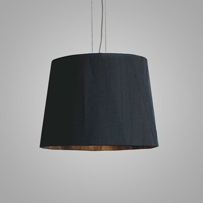 Dress 12 Drum Pendant Finish: Black