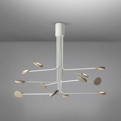 Arbor 12-Light LED Flush Mount Fixture Finish: White/Dove Gray