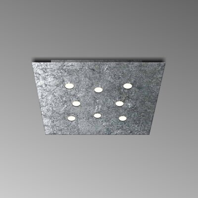 8-Light Flush Mount Fixture Finish: Silver Leaf