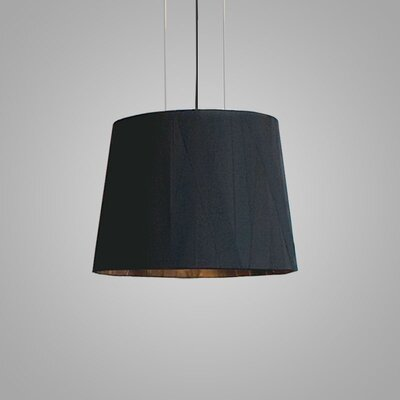 Dress 1-Light Drum Pendant Finish: Black, Size: 17.5 H x 22.5 W x 22.5 D
