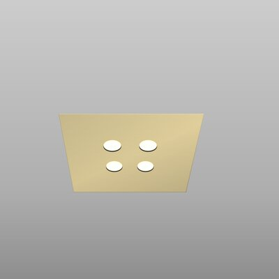 Swing Recessed Housing Finish: Gold Silver